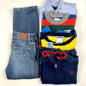 5 Piece Bundle Boys Name Brand Clothes Size 6/7